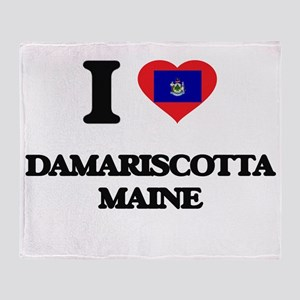 I love Damariscotta Maine Throw Blanket